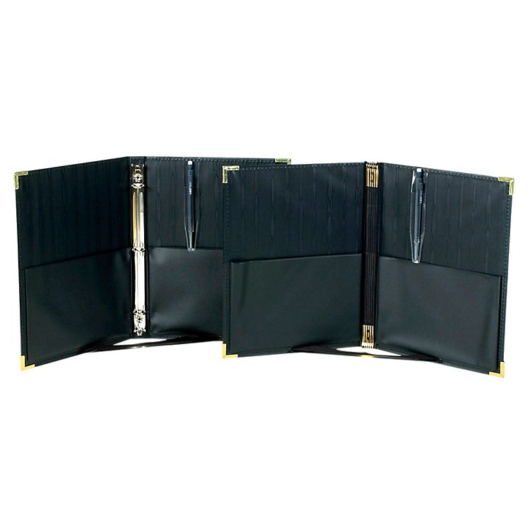Marlo PlasticsPremium Concert Choral Folder 9-1/4 x 12 with 3-ring binder - Black