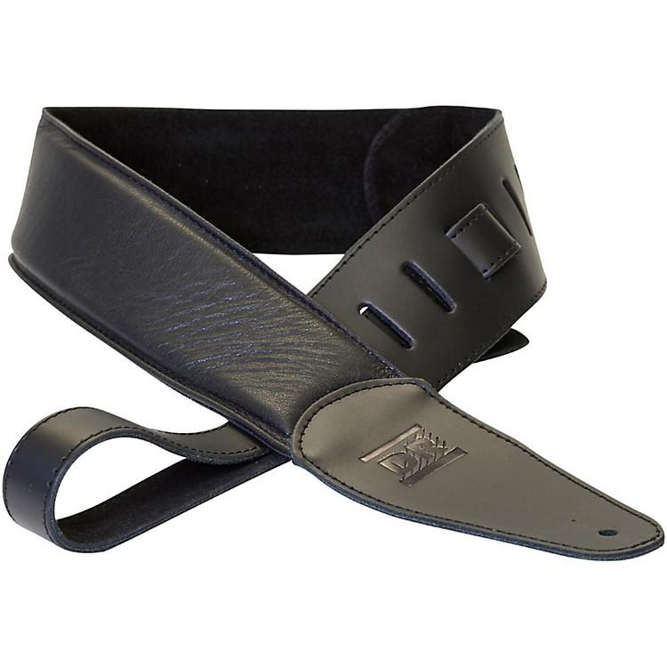DR StringsPremium Glove Leather Guitar Strap with Suede InteriorBlack