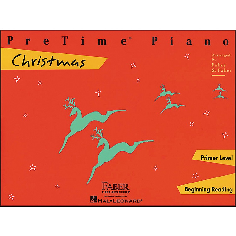Faber Music Pretime Piano Christmas Primer Level Beginning Reading - Faber Piano