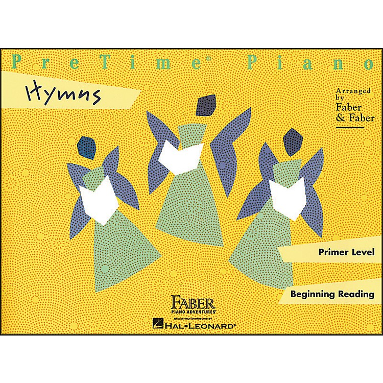 Faber Music Pretime Piano Hymns Primer Level Beginning Reading - Faber Piano