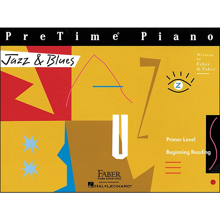 Faber Music Pretime Piano Jazz & Blues Book Primer Level Beginning Reading - Faber Piano