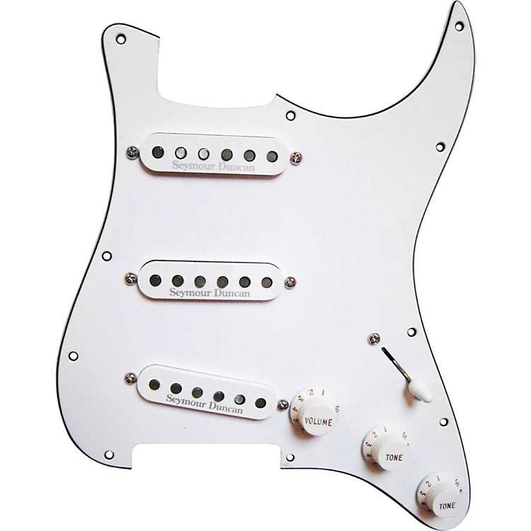 Seymour Duncan Prewired Pickguard with California 50's SSL-1 Pickups White White