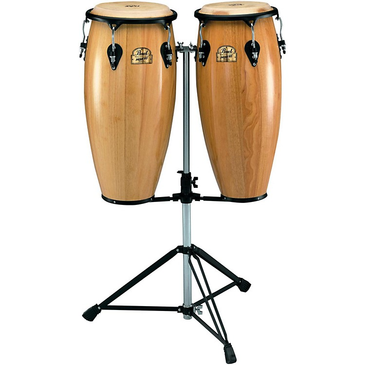 Pearl Primero Conga Set with Twin Stand Natural