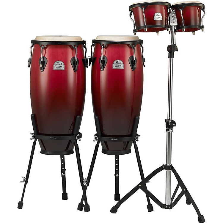 pearl primero wood conga and bongos with hardware music123. Black Bedroom Furniture Sets. Home Design Ideas