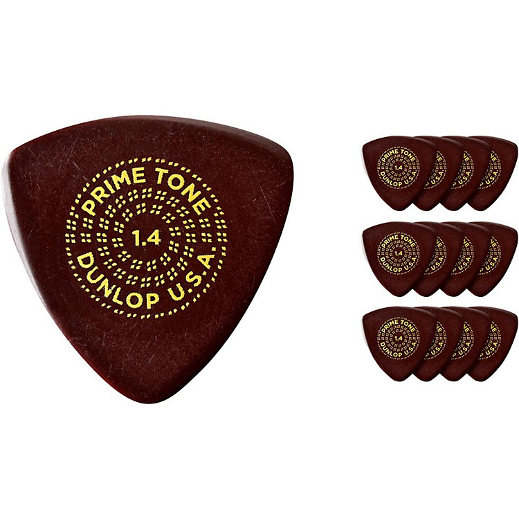 Dunlop Primetone Small Sculpted Triangle Plectra with Grip, 1.5 (12-Pack)