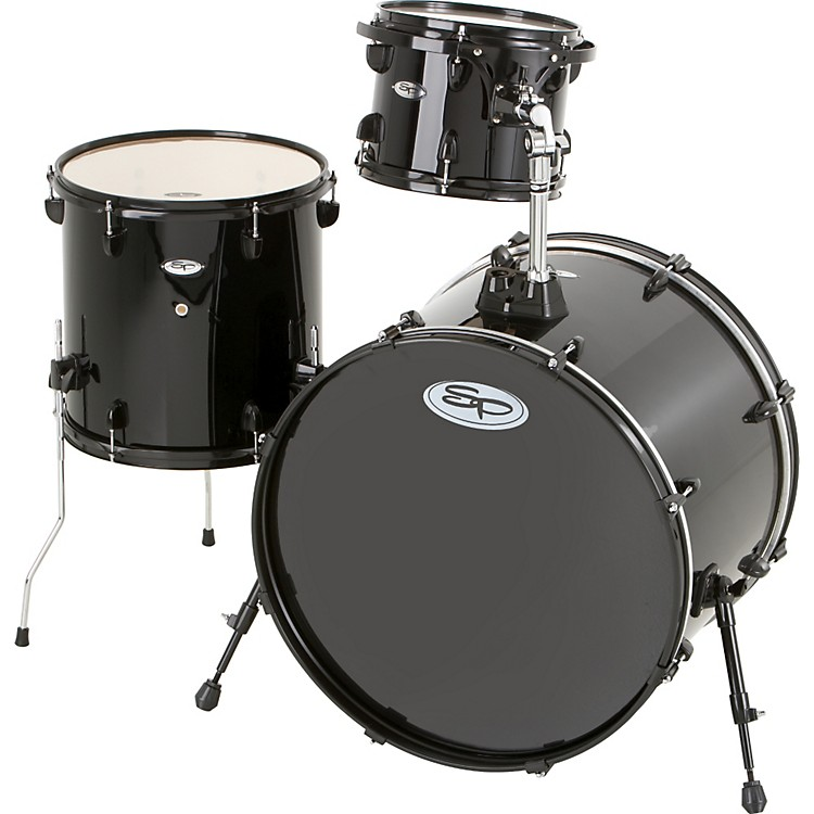 Sound Percussion Pro 3-Piece Double Bass Add-On Pack (Black Hoops and Lugs) Black
