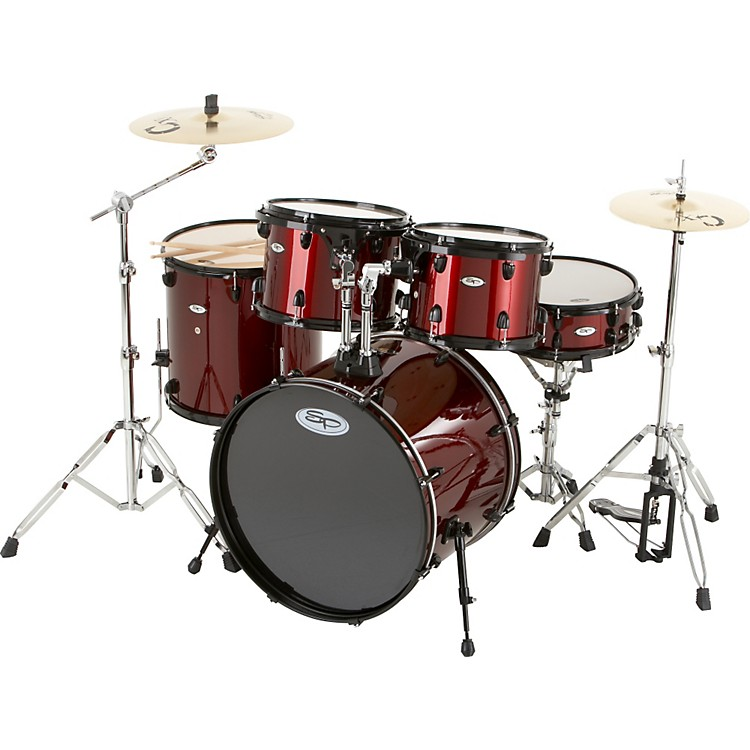 Sound PercussionPro 5-Piece Drum Shell Pack with Black Hardware