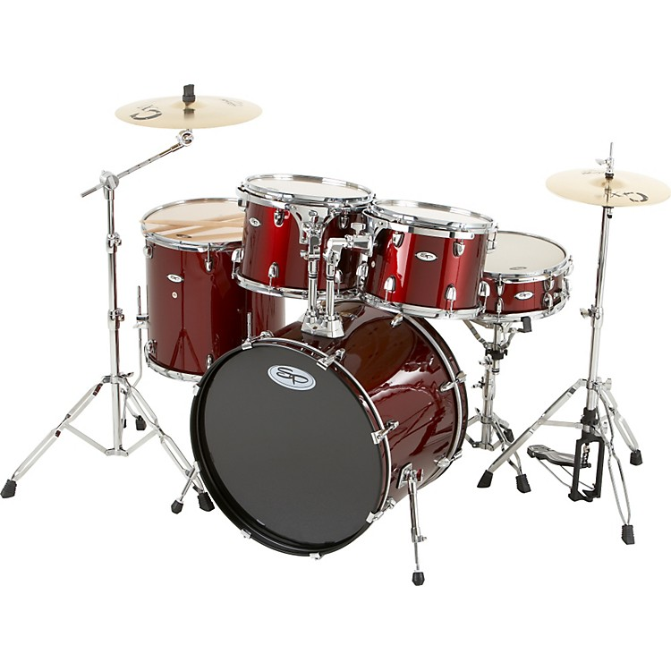 Sound Percussion Pro 5-Piece Shell Pack with Chrome Hardware Wine Red