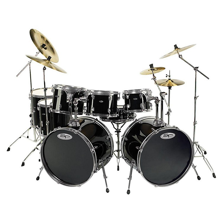 Sound Percussion Pro 8-piece Double Bass Drum Set Black