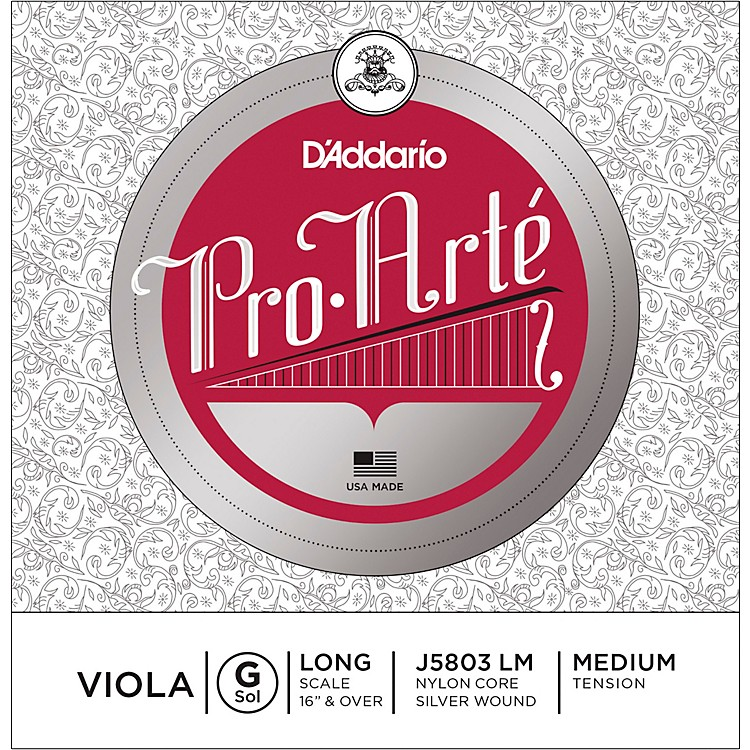 D'Addario Pro-Art Series Viola G String 16+ Long Scale