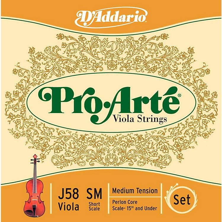 D'Addario Pro-Art Series Viola String Set 13-14 Short Scale
