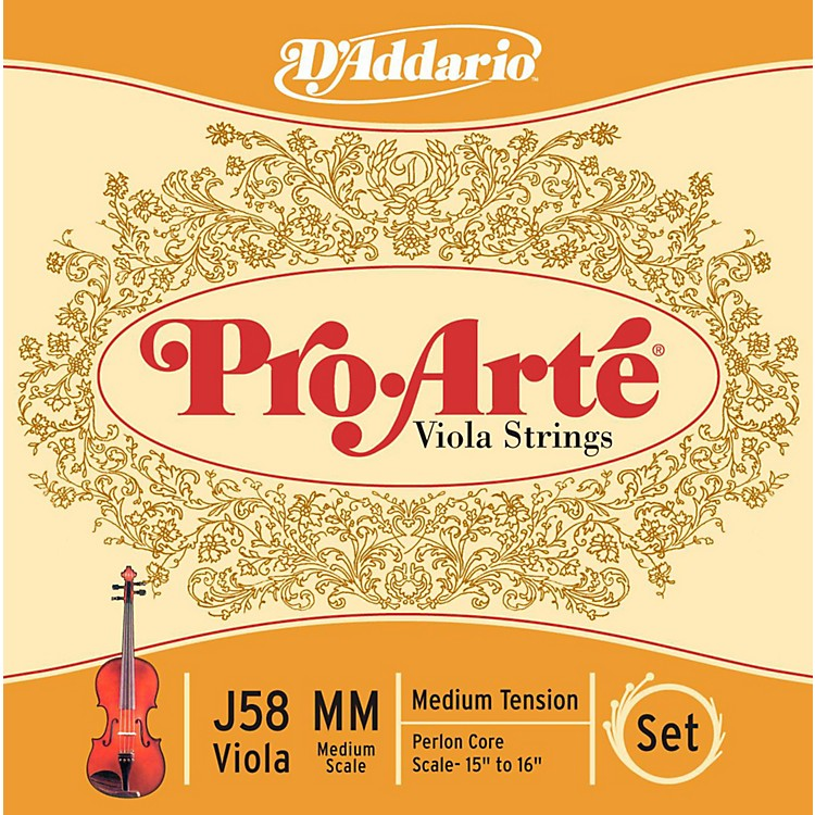 D'Addario Pro-Art Series Viola String Set 15+ Medium Scale