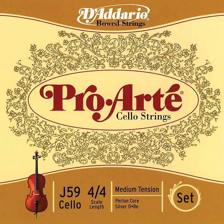 D'Addario Pro-Arte 4/4 Size Cello String Set
