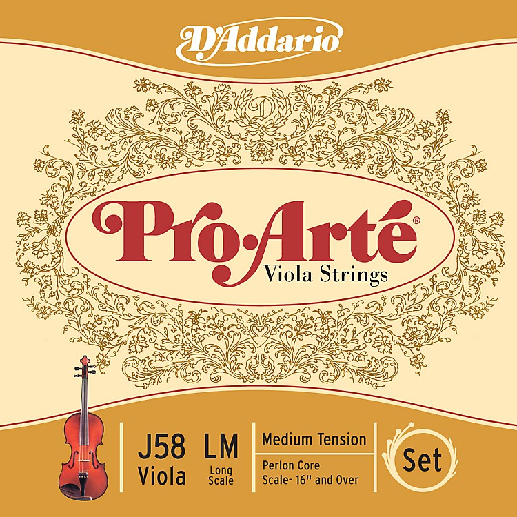 D'Addario Pro-Arte Long Scale Viola String Set