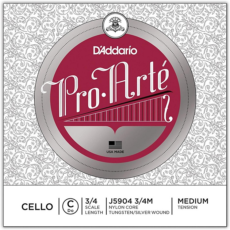 D'Addario Pro-Arte Series Cello C String 3/4 Size