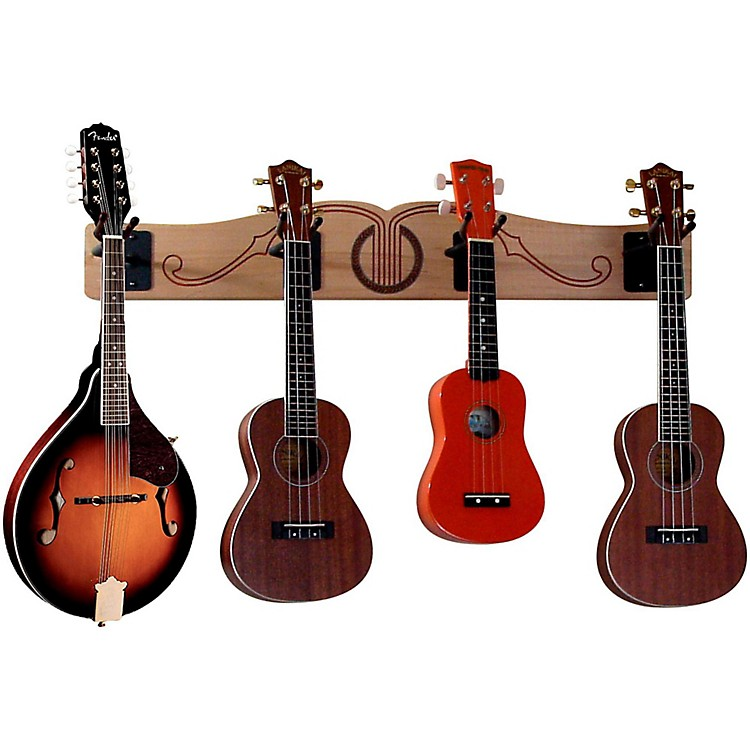 A&S Crafted Products Pro-File Wall Mounted Ukulele & Mandolin Rack