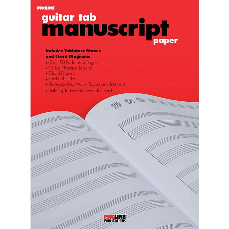 ProLinePro Line Guitar Tab Manuscript Paper