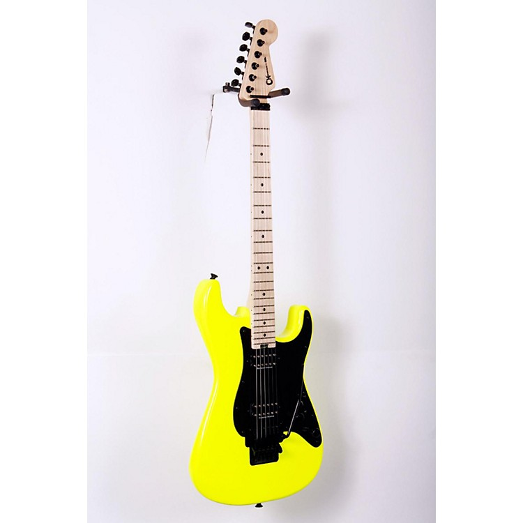 Charvel Pro Mod So Cal Style 1 2H FR Electric Guitar Neon Yellow 888365800608