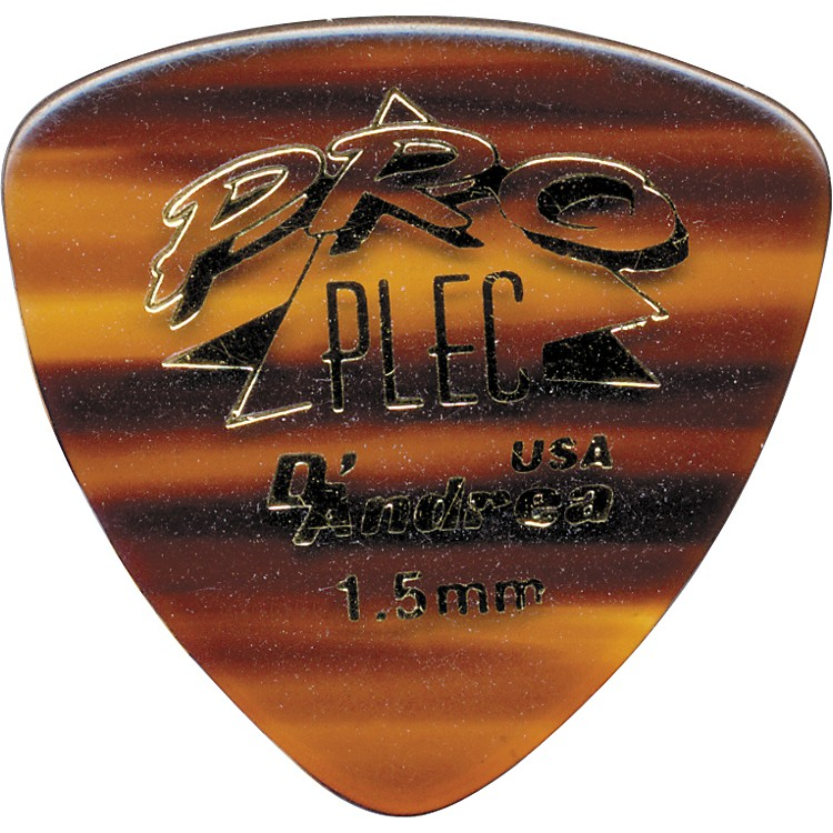 D'Andrea Pro Plec Rounded Triangle Picks - One Dozen Shell 1.5MM