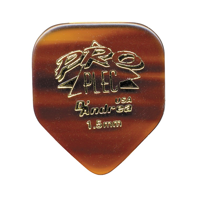 D'Andrea Pro Plec Small Pointed Square Guitar Picks - One Dozen Shell 1.5MM
