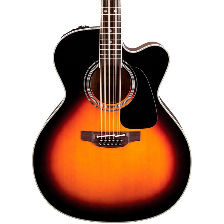 Takamine Pro Series 6 Jumbo Cutaway 12-String Acoustic-Electric Guitar Sunburst
