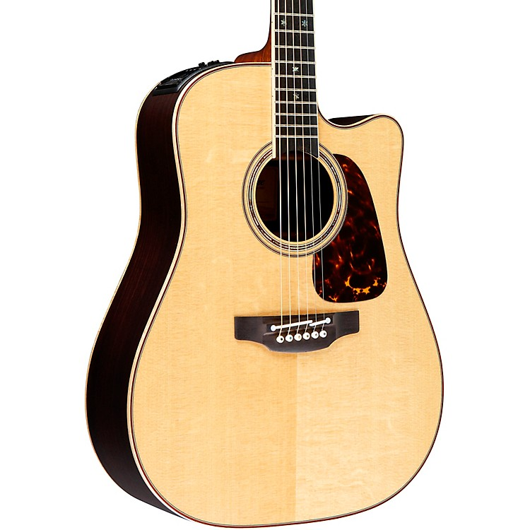 TakaminePro Series 7 Dreadnought Cutaway Acoustic-Electric GuitarNatural