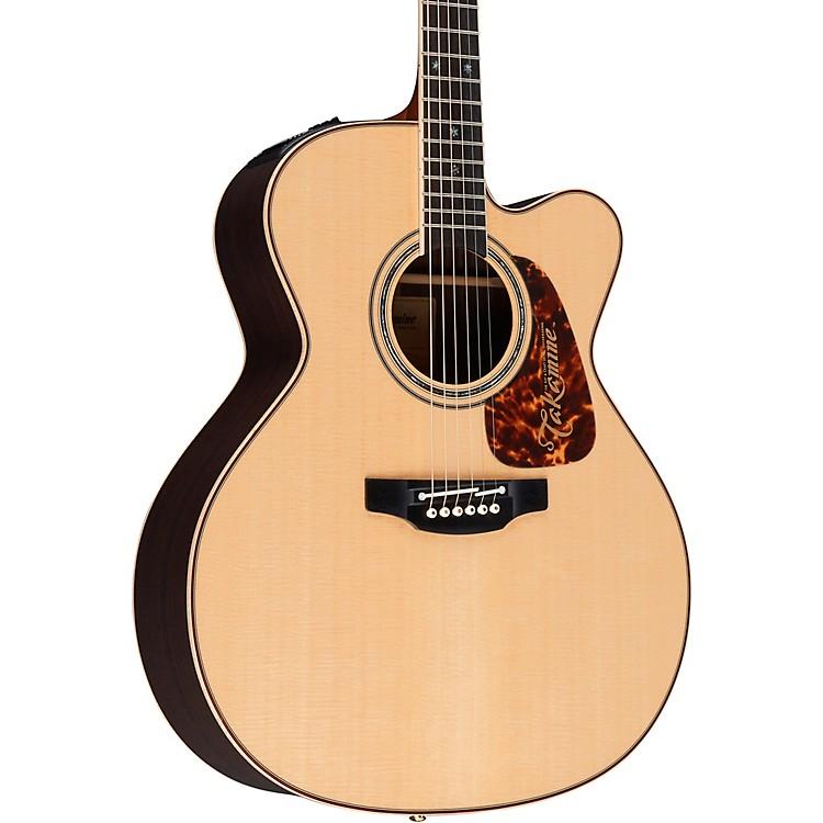 TakaminePro Series 7 Jumbo Cutaway Acoustic-Electric GuitarNatural