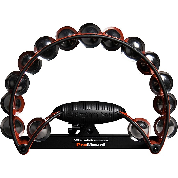 RhythmTech Pro Tambourine Red/Stainless Steel Jingles