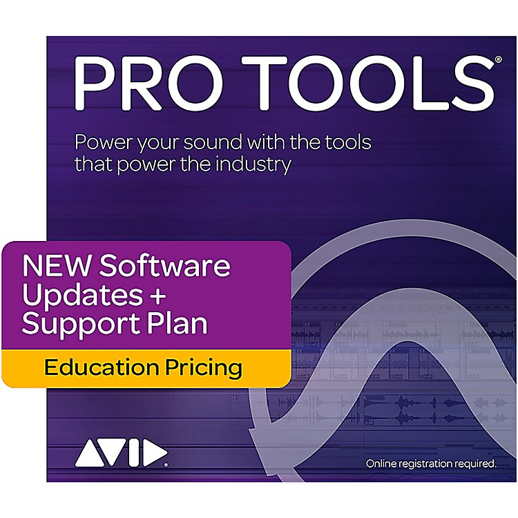 AvidPro Tools Educational Annual Upgrade, Tech Support & Plugins Plan For Pt 12 Teacher/Student Users (Activation Card)