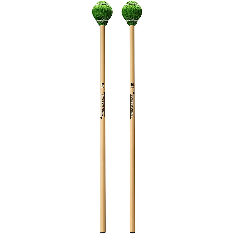 Mike Balter Pro Vibe Series Rattan Mallets 22 Green Cord Medium Hard