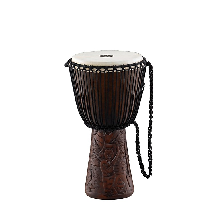 MeinlProfessional African Style DjembeVillage Carving10 Inch