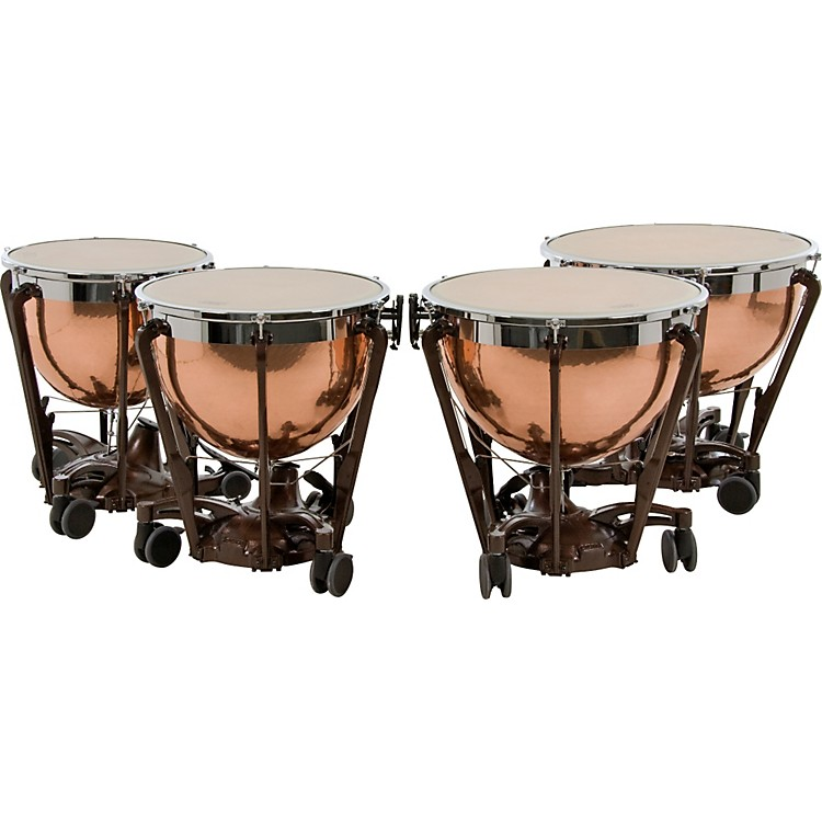 AdamsProfessional Series Generation II Hammered Copper Timpani, Set of 4
