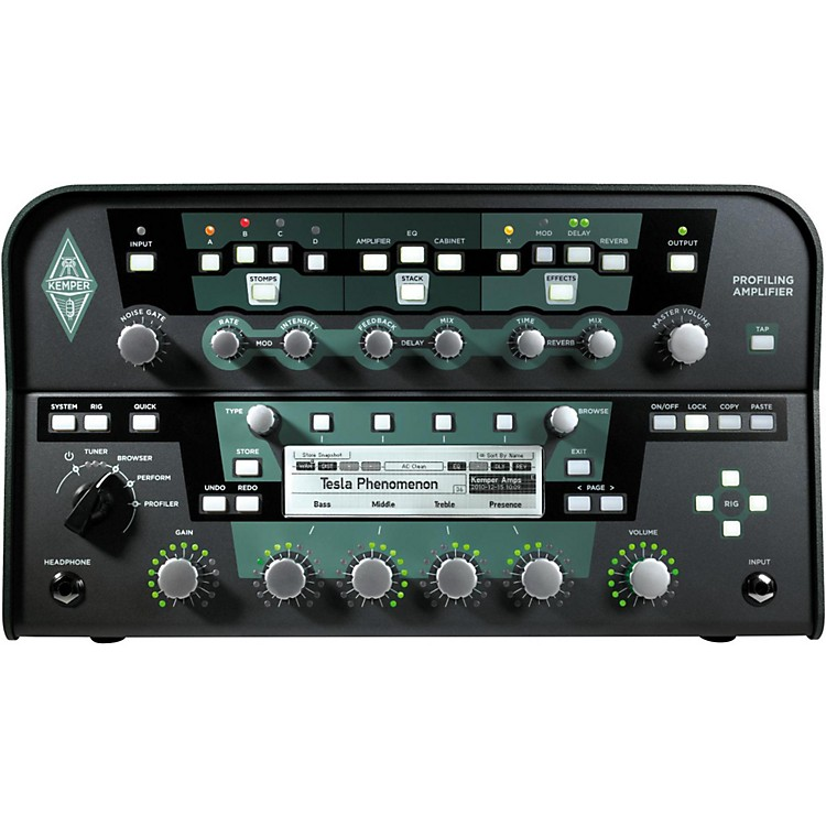 Kemper Profiler PowerHead 600W Class D Profiling Guitar Amp Head Black