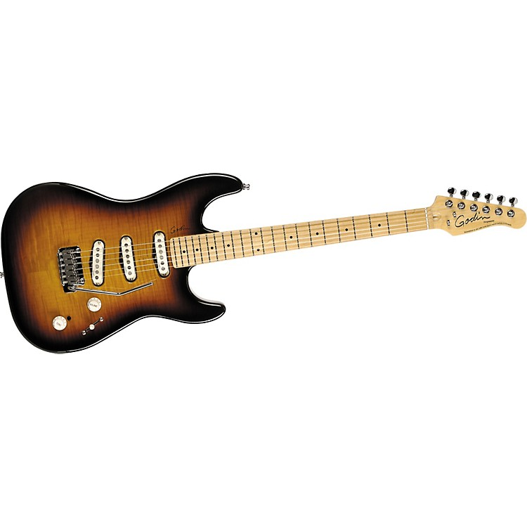 Godin Progression Electric Guitar Vintage Burst Flame Maple Fretboard