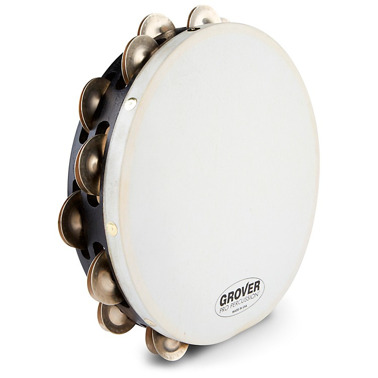 Grover ProProjection-Plus Double-Row German Silver Tambourine10 in.10 in.