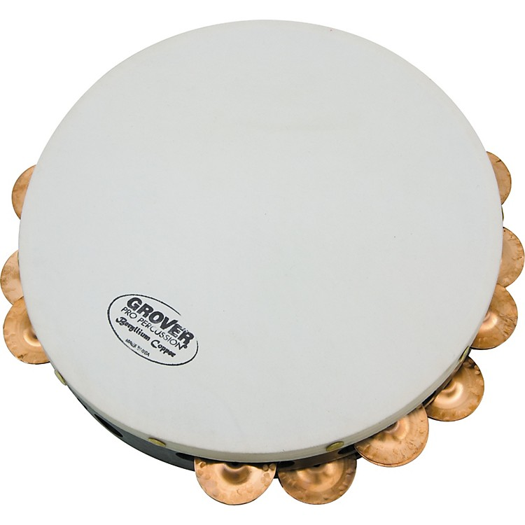 Grover ProProjection-Plus Double Row TambourinesCustom Dry Copper 10 in.