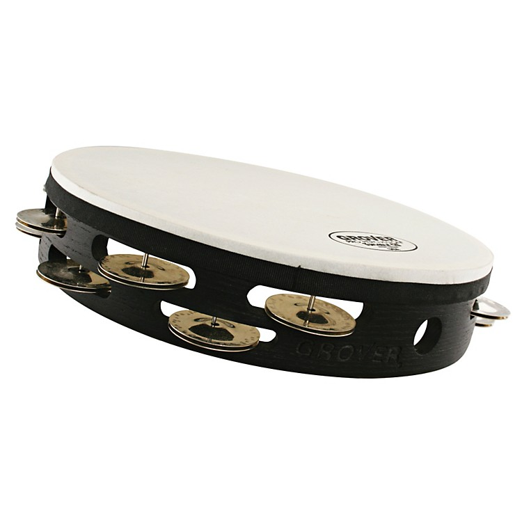 Grover Pro Projection-Plus Double-Row Tunable German Silver Tambourine 10 Inch