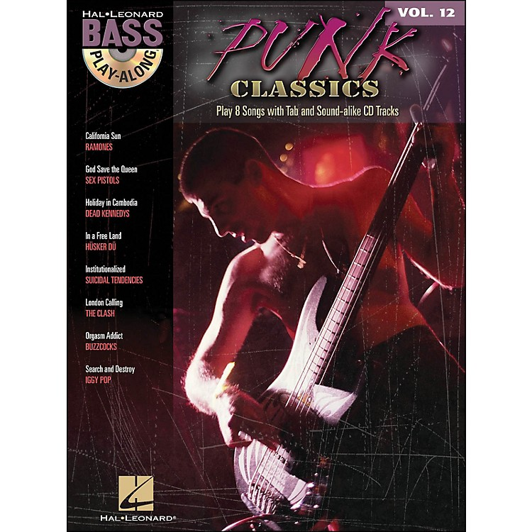 Hal Leonard Punk Classics - Bass Play-Along Volume 12 Book/CD