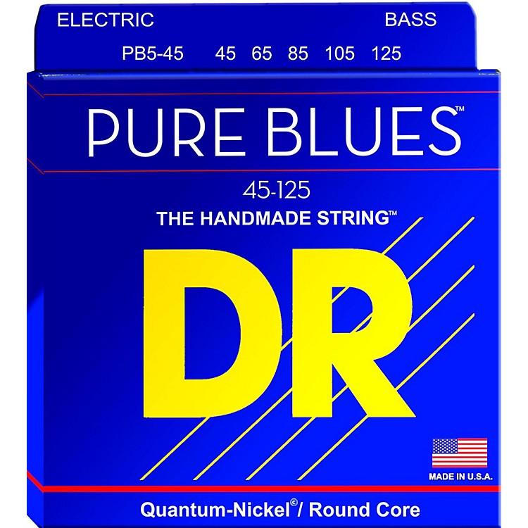 DR StringsPure Blues Medium 5-String Bass Strings (45-125)
