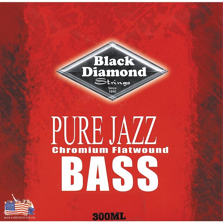 Black DiamondPure Jazz Bass Guitar Chromium Flat Wound Strings