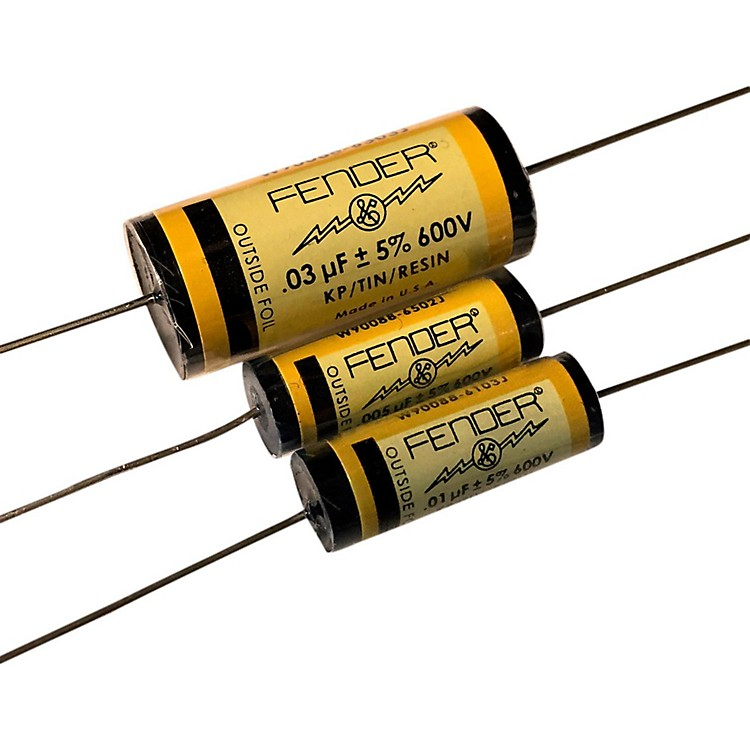 Fender Pure Vintage YELLOW Amplifier Capacitors .005 - 600V KTR