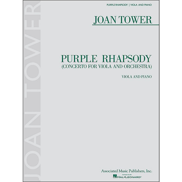 G. SchirmerPurple Rhapsody (Concerto for Viola And Orchestra) for Viola And Piano By Tower