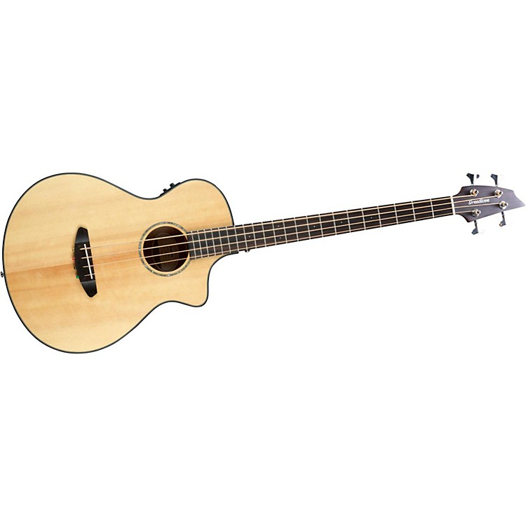 Breedlove Pursuit Acoustic-Electric Bass Guitar Natural