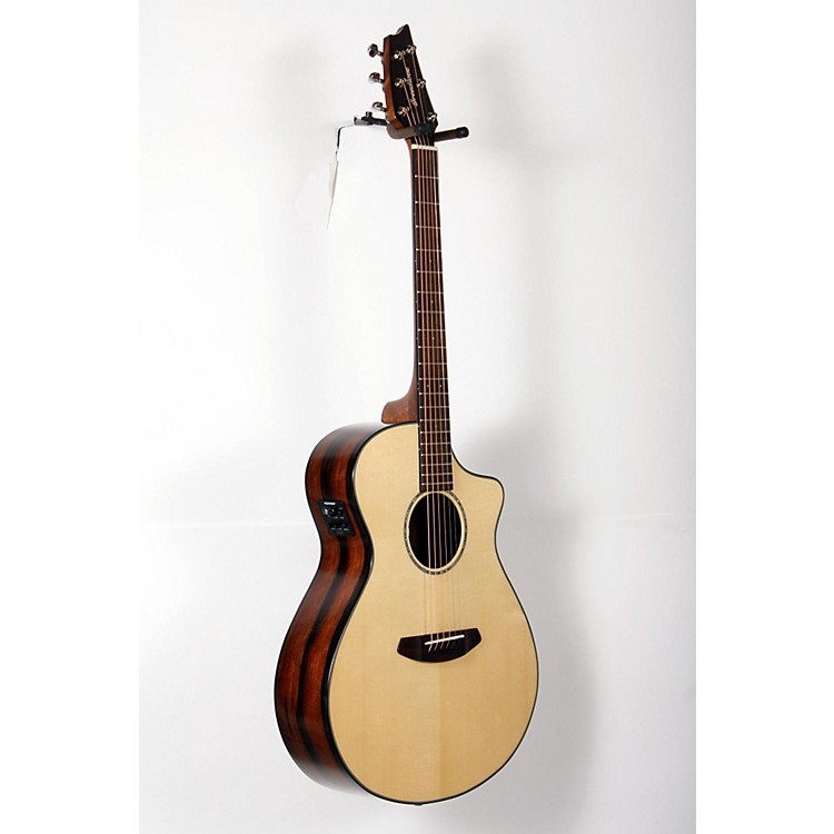 Breedlove Pursuit Concert Ebony Acoustic-Electric Guitar Natural 888365854120