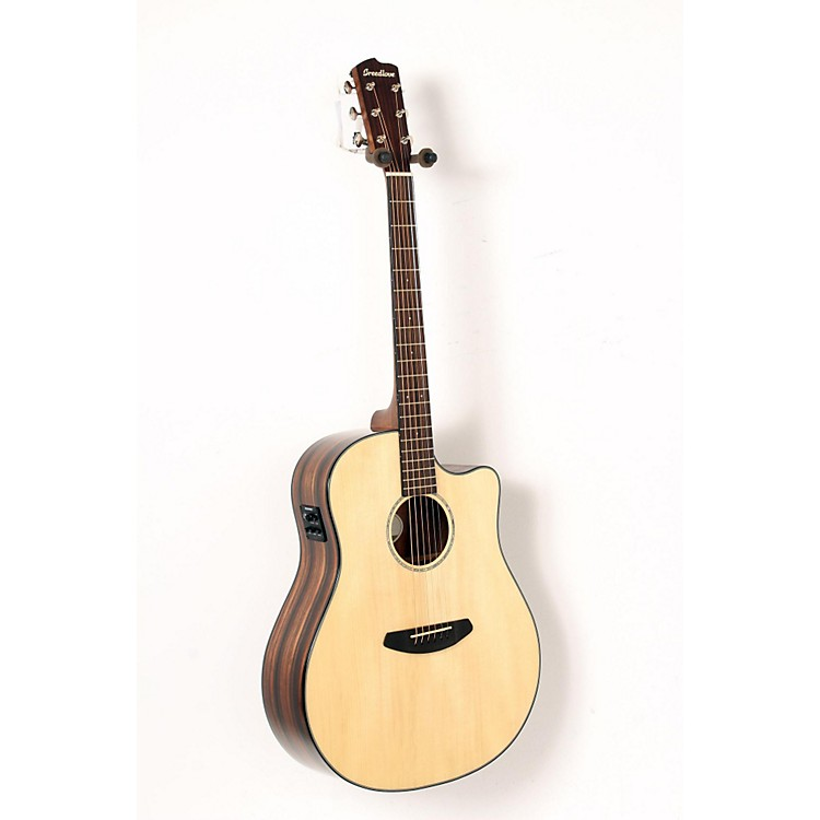 Breedlove Pursuit Dreadnought Ebony Acoustic-Electric Guitar Natural 888365906560