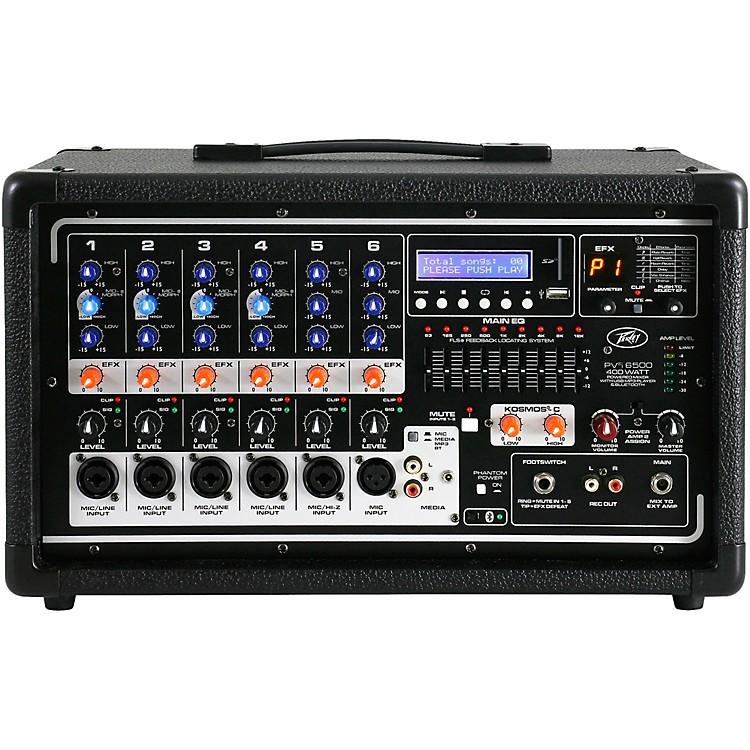 PeaveyPvi6500 6-Channel 400W Powered PA Head w/ Bluetooth and FX
