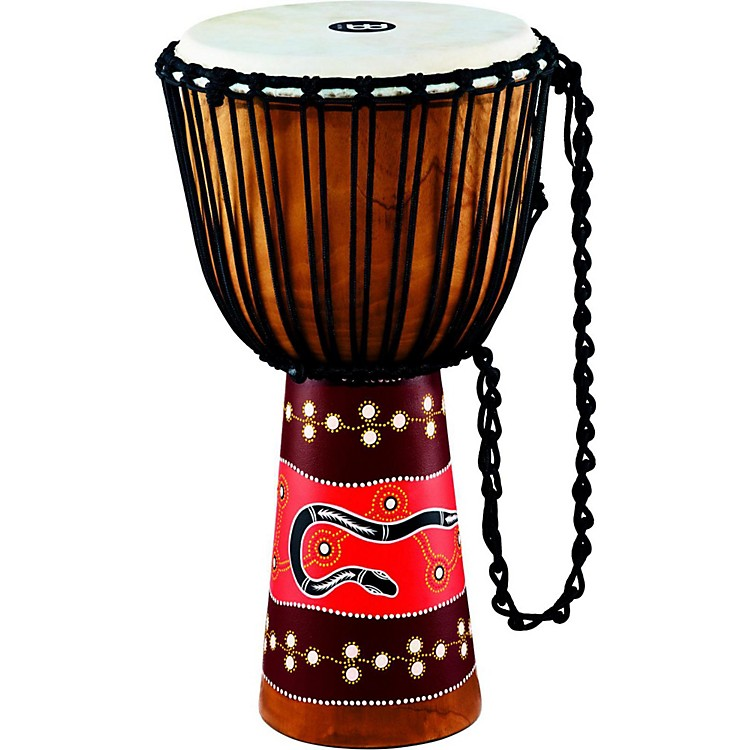 MeinlPython Series Rope Tuned Mahogany Djembe13 in.