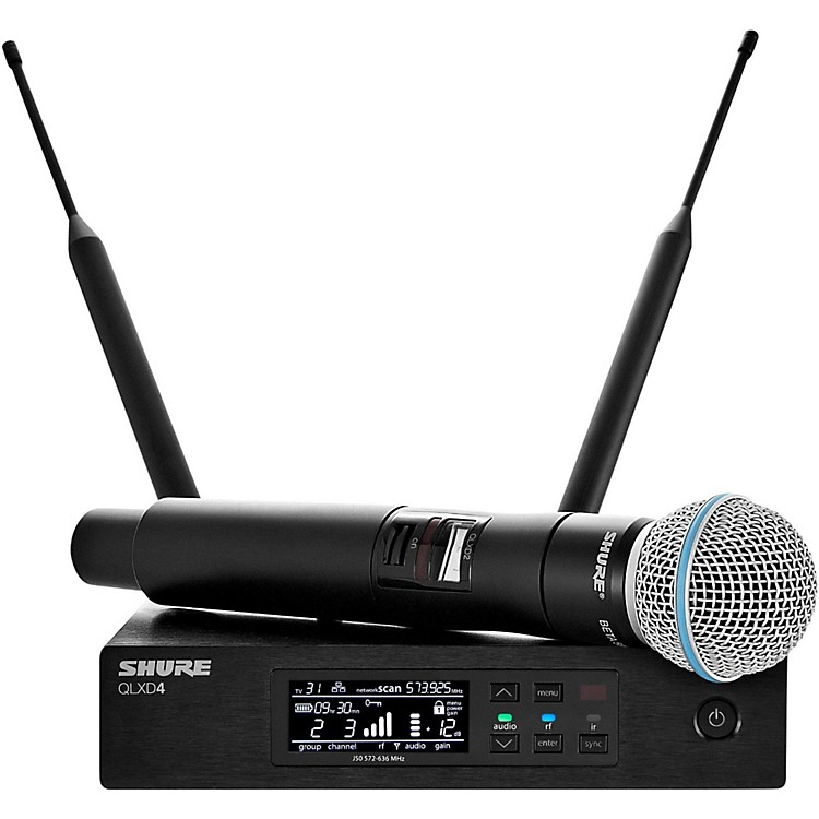 ShureQLX-D Digital Wireless System with Beta 58 MicrophoneBand L50