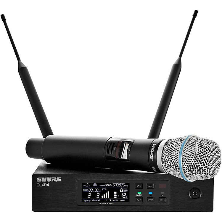 Shure QLX-D Digital Wireless System with Beta 87A Condenser Microphone Band H50