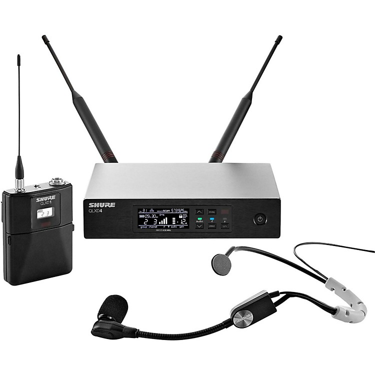Shure QLX-D Digital Wireless System with SM35 Condenser Headset Microphone Band L50